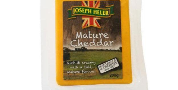 Queijo Cheddar Inglês Mature Joseph Heller  embalagens de 200g- caixa com 12 uni