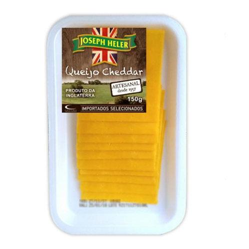 Queijo cheddar Inglês Joseph Heller fatiado  embalagem com 200g - caixa com 12 u