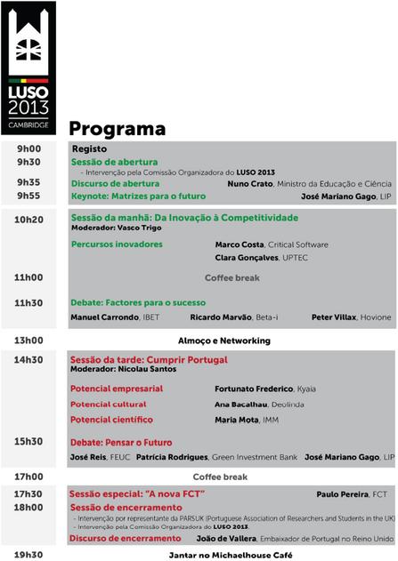 LUSO 2013 -  Cambridge