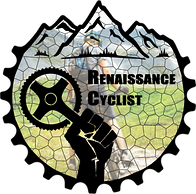 Renaissance Cyclist Logo Stained Glass b