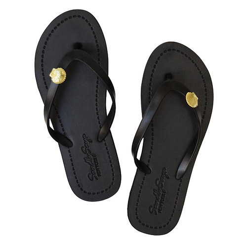 Gold Shell - Women's Flat Sandal