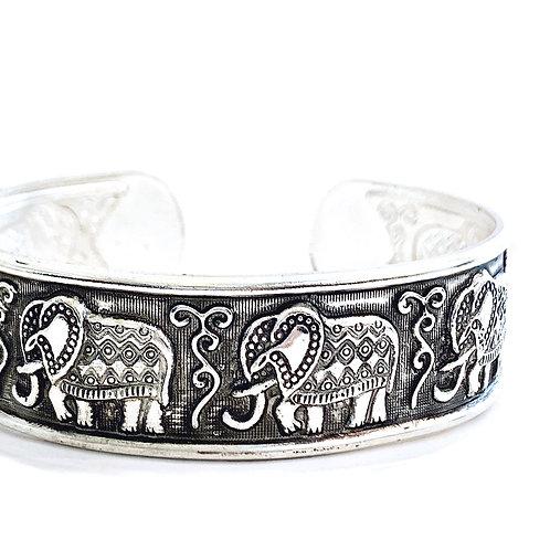 Ganapati Elephant Tibetan Silver Bracelet
