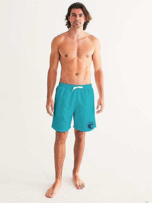 Men's FYC Original Wave Teal Swim Shorts UPF 40 W/Lining