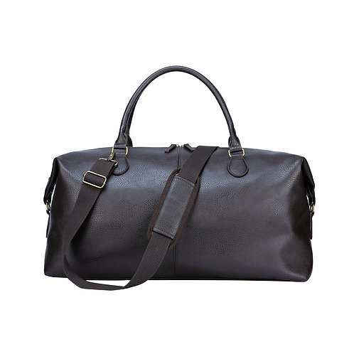 Gunner Brown Vegan Leather Duffle Bag