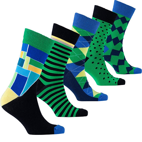 Men's Emerald Mix Set Socks