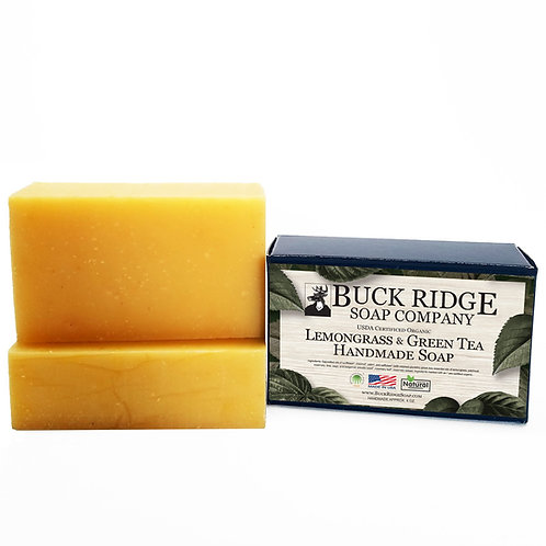 Lemongrass and Green Tea Handmade Soap - USDA Certified Organic