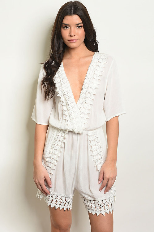 Womens Crochet Romper