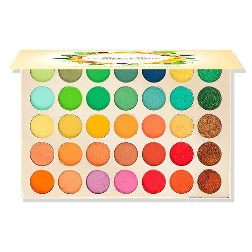 Alice+Jane 35 Color  Eyeshadow Palette With Glitter and Cream Citrus Oasis