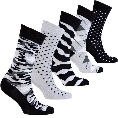 Men's Solid Mix Set Socks