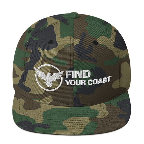 Find Your Coast Premium Snapback Adjustable Hat
