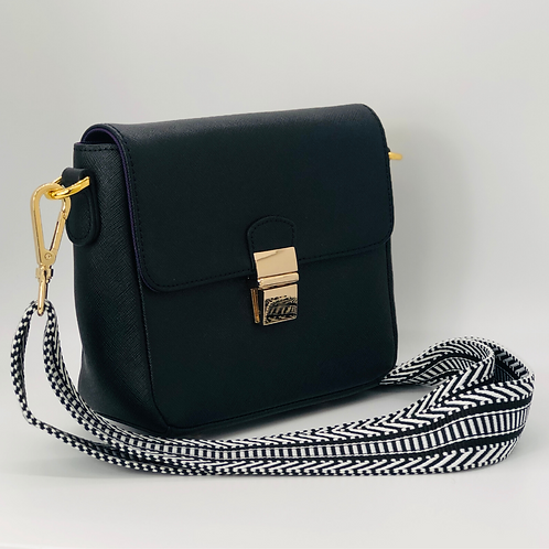 Tiny Leather Crossbody -Black (Option 1)