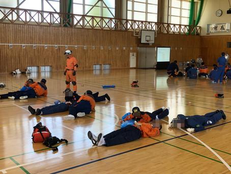 伊南4市町村消防団の救護隊合同訓練