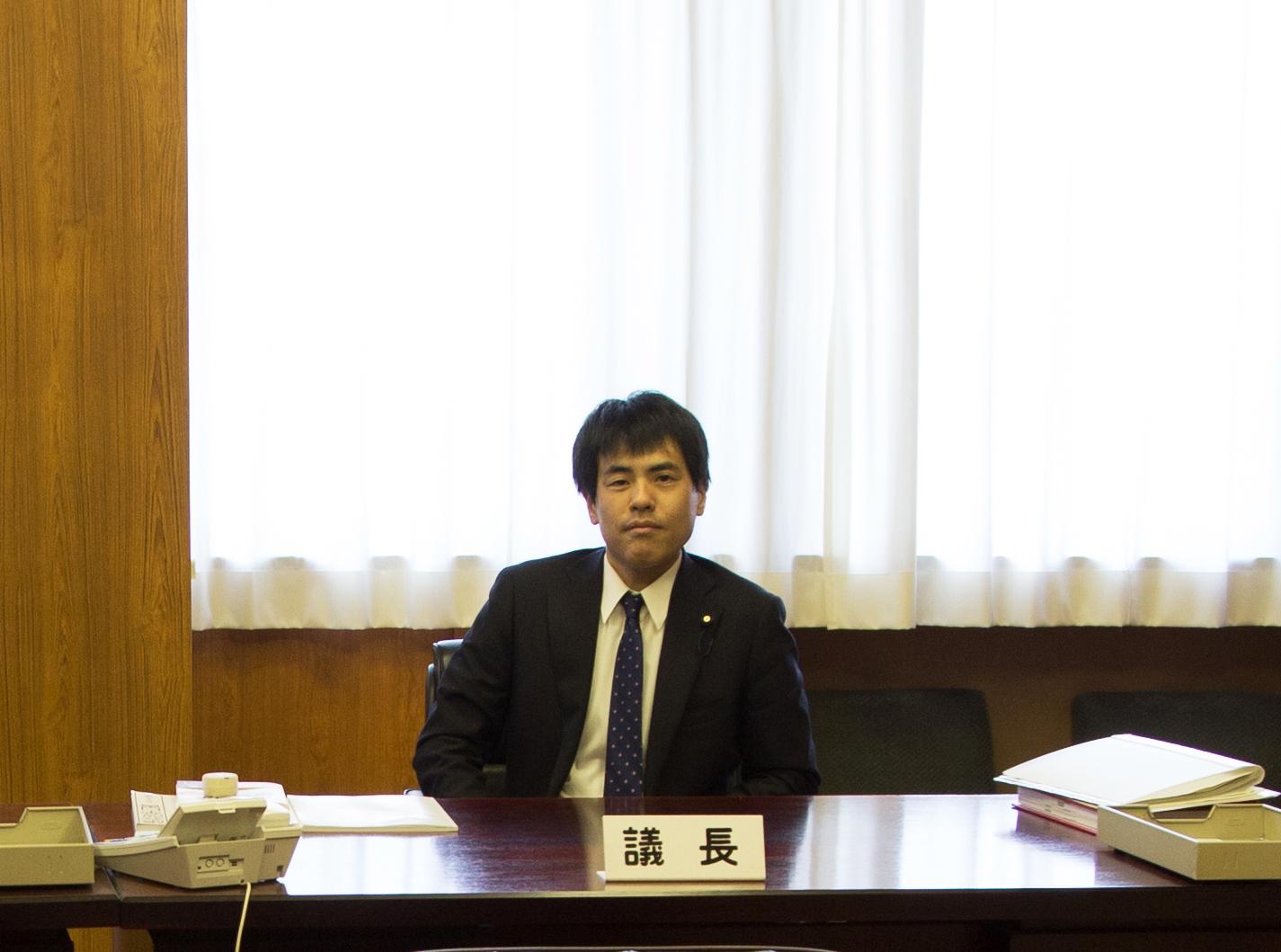 2019年5月8日宮田村役場正副議長室