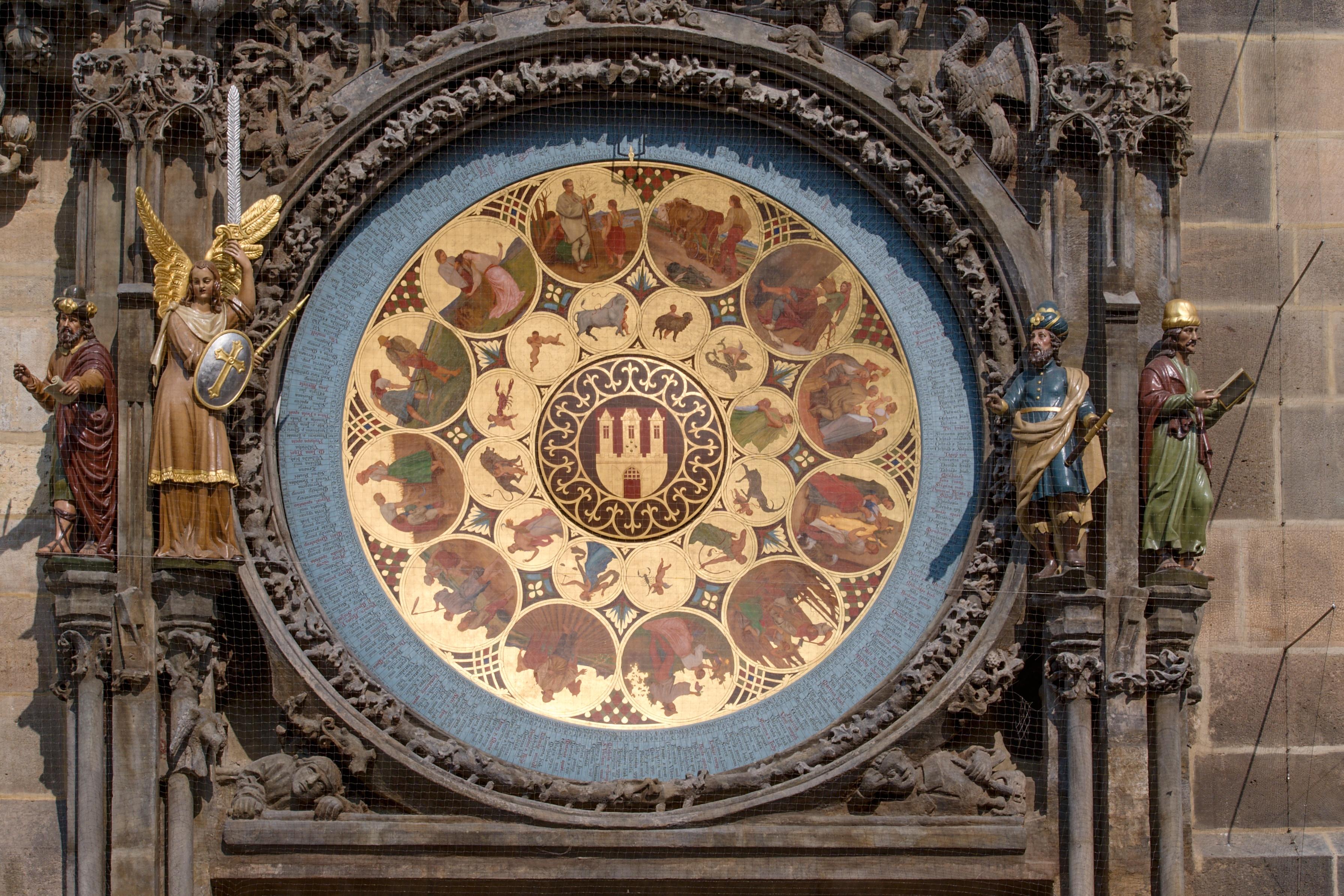 Le Calendrier du peintre Manes, Horloge