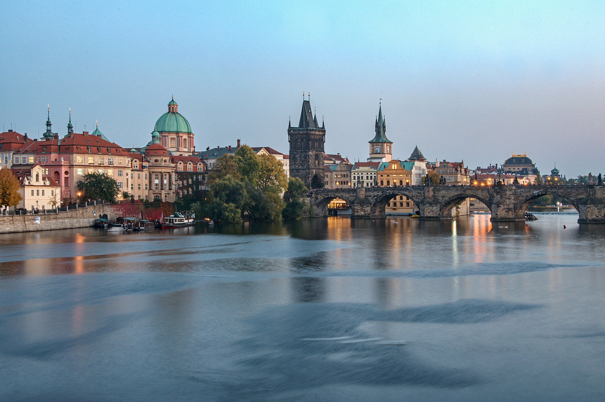 Prague, Charles Bridge, Old Town Spires