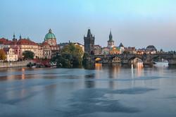 Prague, Charles Bridge, Old Town Spires