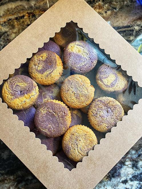 Ube Cheddar Muffins