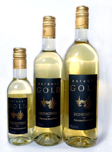 """Honigwein """"Aarauer Gold"""" in drei Grössen"""