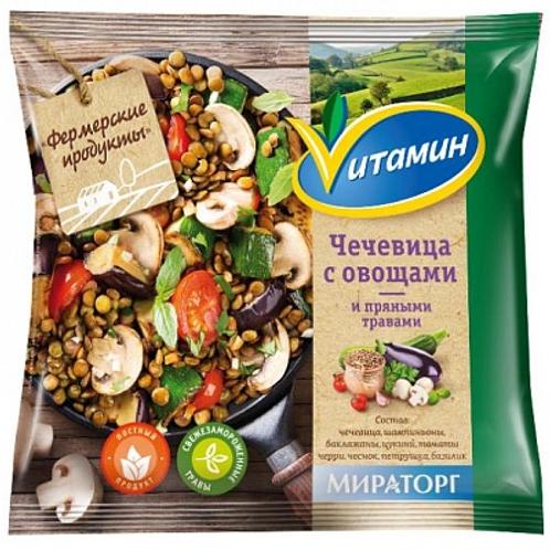 Чечевица с овощами и пряными травами