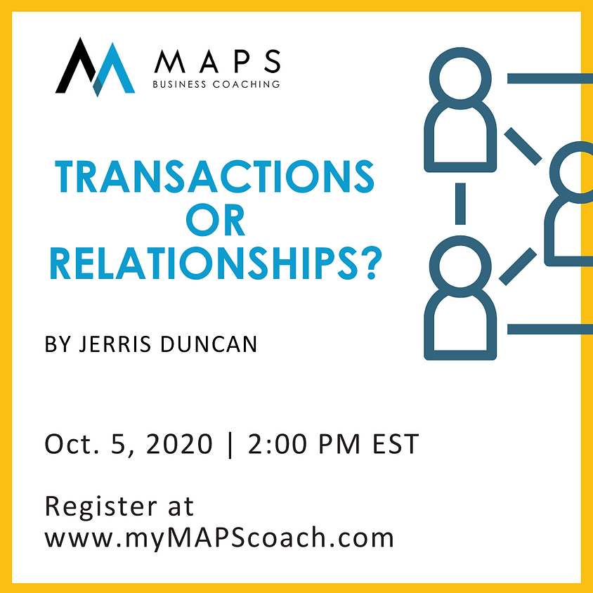 Transactions or Relationships?