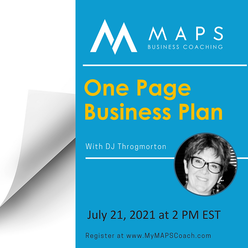 Creating Your One Page Business Plan