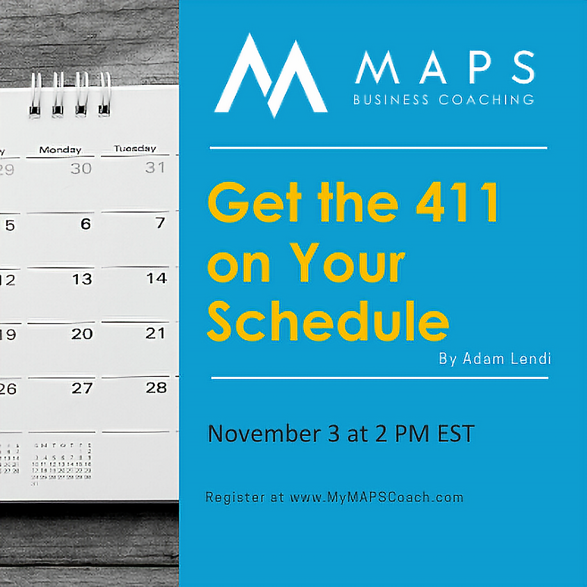 Get the 411 on Your Schedule with Adam Lendi