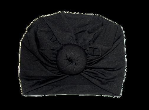Black Donut Turban