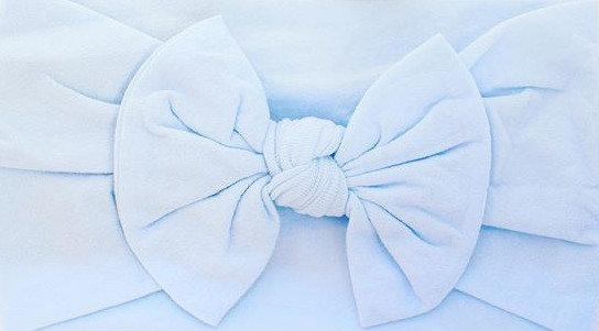 Dusty BlueBow Headband