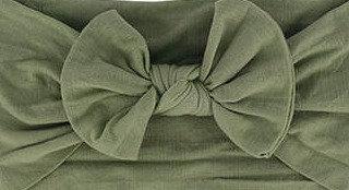 Khaki Bow Headband