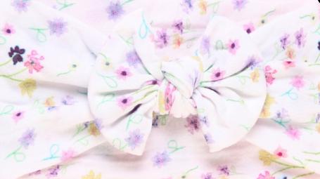 Pretty Floral Bow Headband