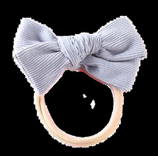 Baby Blue Corduroy Bow Headband