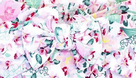 Multicoloured Floral Bow Headband