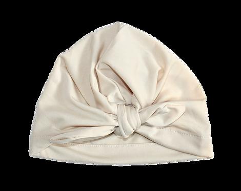 Cream Bow Knot Turban