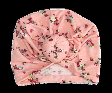 Pink Floral Donut Turban