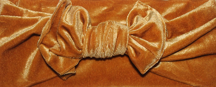 Mustard Velvet Bow Headband