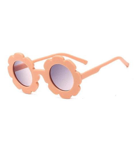 Peach Daisy Sunglass - With Case