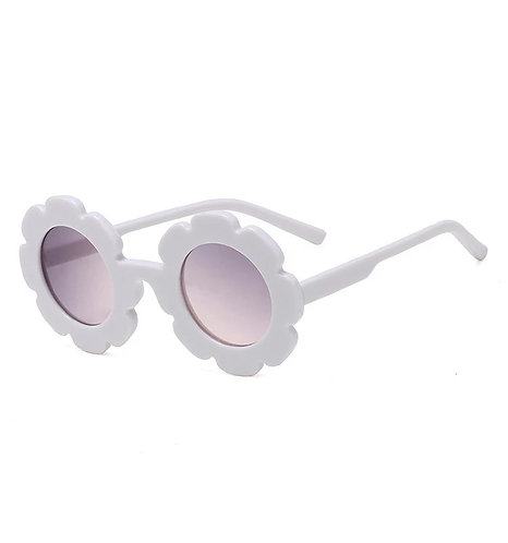 White Daisy Sunglass - With Case