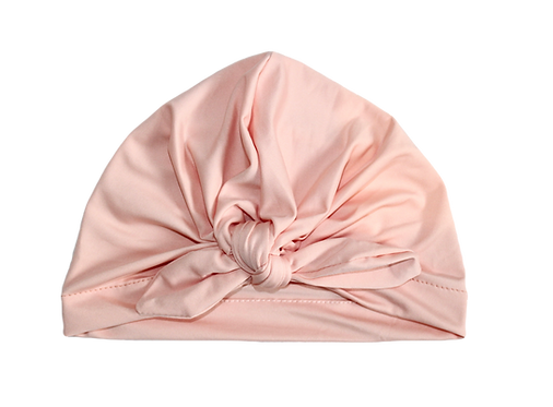 Pale Pink Bow Knot Turban
