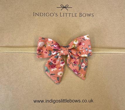 Floral Dainty Bow Headband