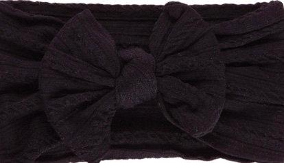 Black Cable KnitBow Headband
