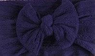 Navy Cable Knit Bow Headband