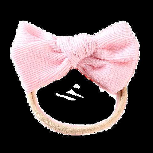 Baby Pink Corduroy Bow Headband
