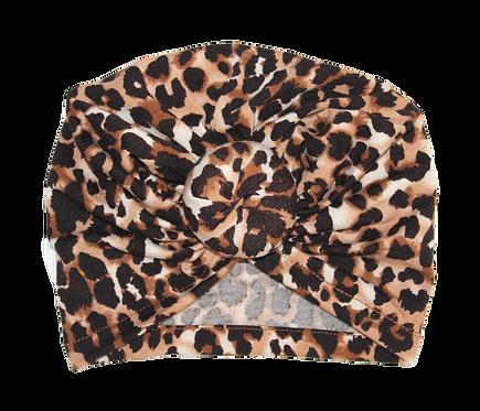 Leopard Print Donut Turban