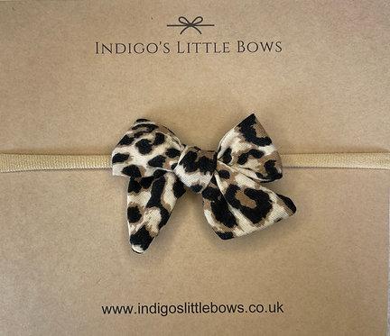 Leopard Print Dainty Bow Headband