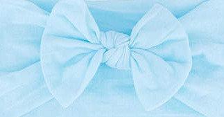 Aqua Blue Bow Headband
