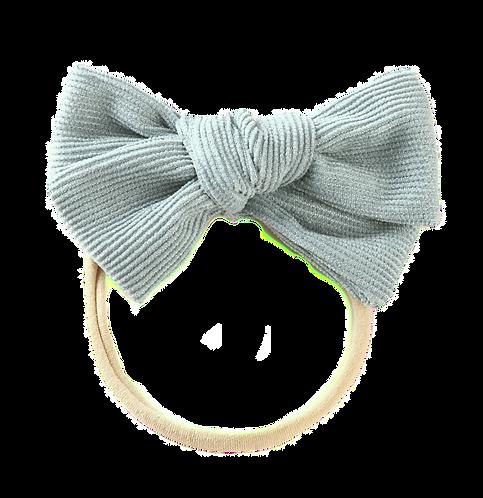Emerald Corduroy Bow Headband
