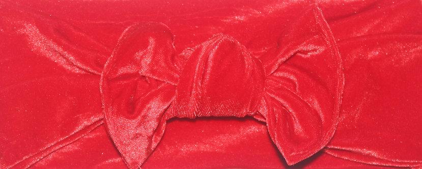 Red Velvet Bow Headband