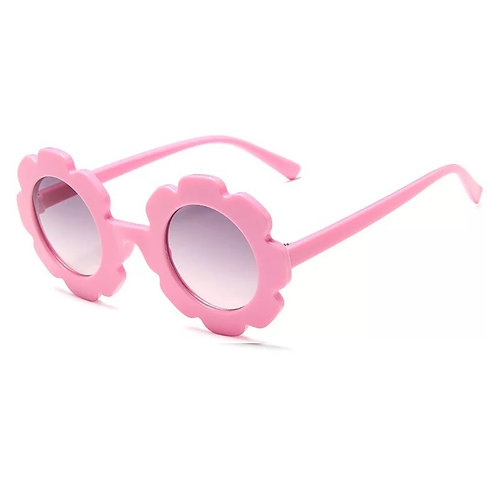 Pink Daisy Sunglass - With Case