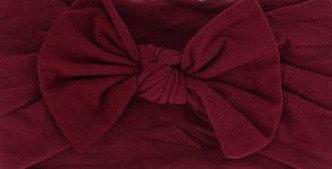 Burgundy Bow Headband