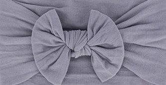 Stone Grey Bow Headband